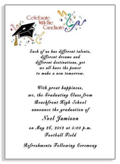 Graduation Party Invitations/Announcements (Item #GRFB2901)
