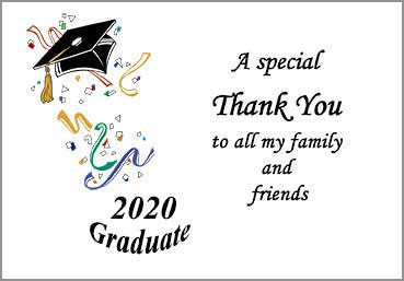 college graduation thank you card samples